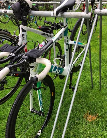 racked bike